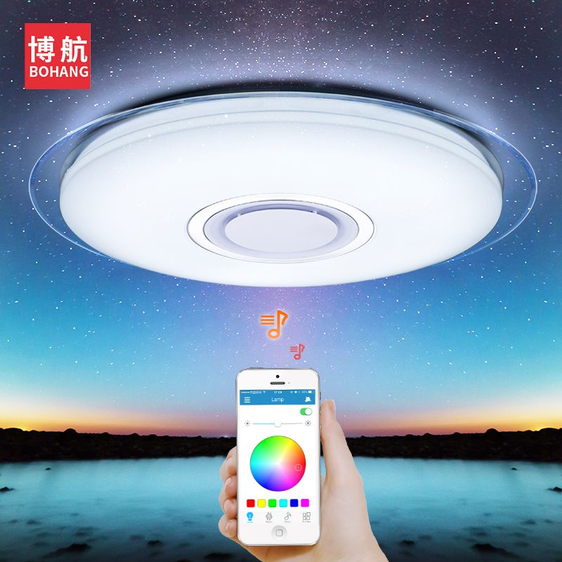 Modern LED ceiling Light RGB <font><b>Dimmable</b></font> 52W APP control Bluetooth & Music ceiling lights living for room/bedroom 220V ceiling lamp