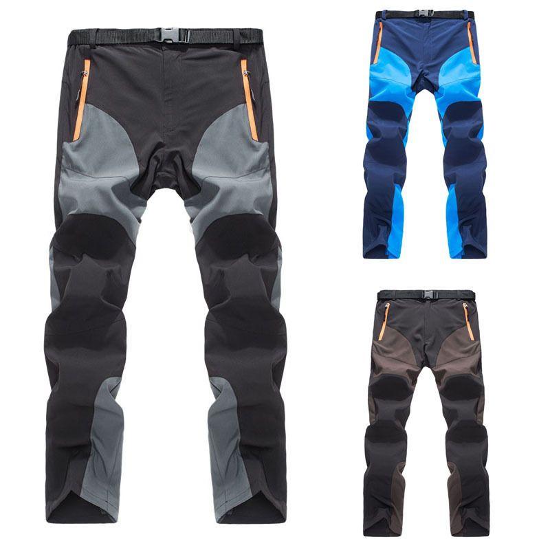 2017 de La Moda de Secado rápido Para Hombre chándal track Soft shell pantalones Tácticos Pantalones Cargo Pantalones de Combate