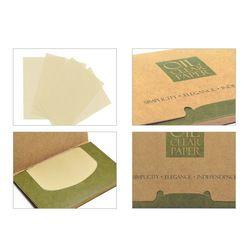 100 Feuilles/pack Papiers Mouchoirs Vert Thé Odeur Maquillage Nettoyage Absorbant L'huile Visage Papier Absorber Buvard Propre Visage