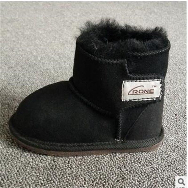 Новых детских снега сапоги Овчины детская обувь малыша обувь снегоступы