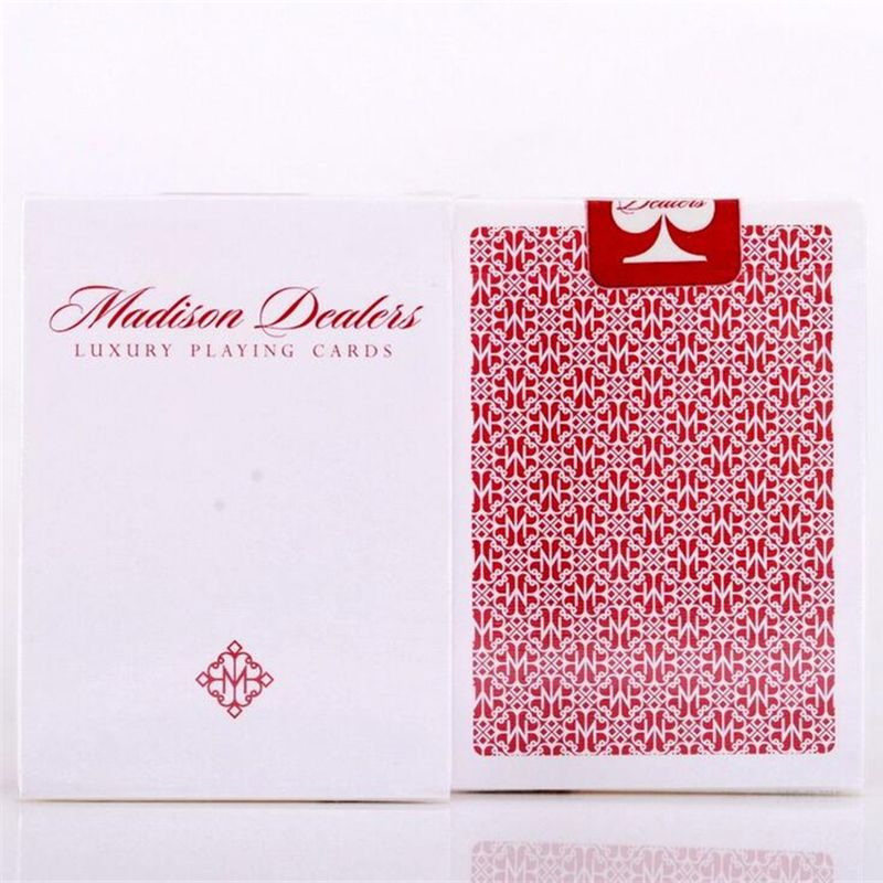 1 Deck Bicycle Ellusionist Madison Red Bordered Dealers US Playing Cards Magic Poker Magic Deck Magic Tricks 81427