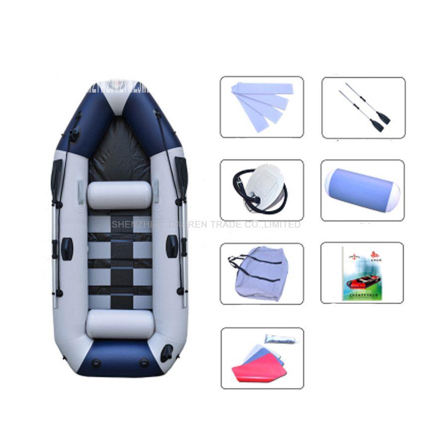 3 Person PVC Schlauchboote Boot Professionelle Angeln Ruderboot Aufblasbare Laminiert Tragen-beständig Boot Gummi Mit Ruder Pumpen