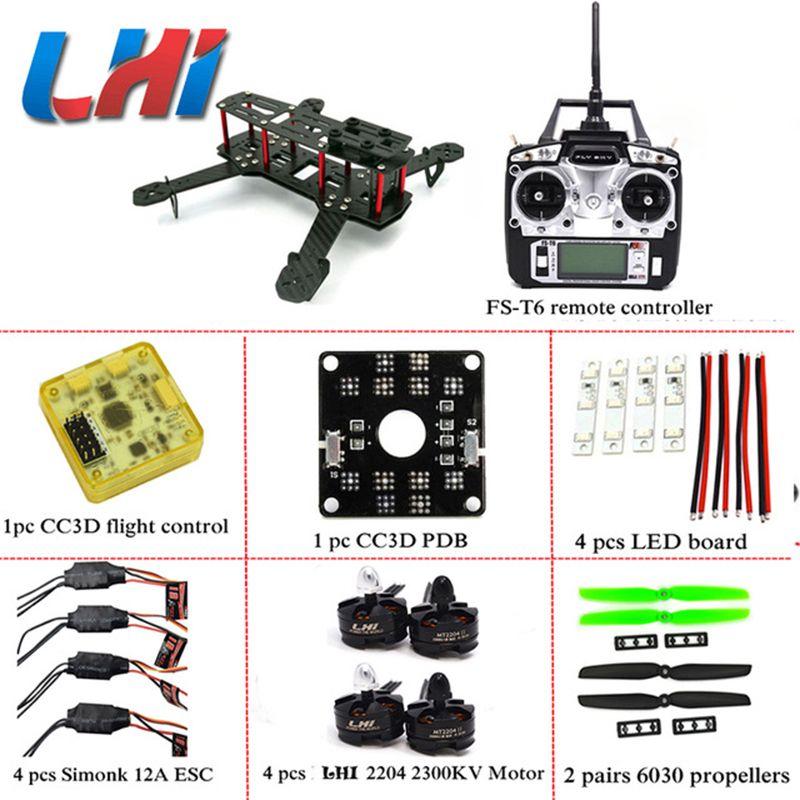 DIY LHI Senior ZMR250 QAV250 Quadcopter Frame Motor quadrocopter dron qav zmr KIT <font><b>drone</b></font> CC3D Flight Control 250 frame
