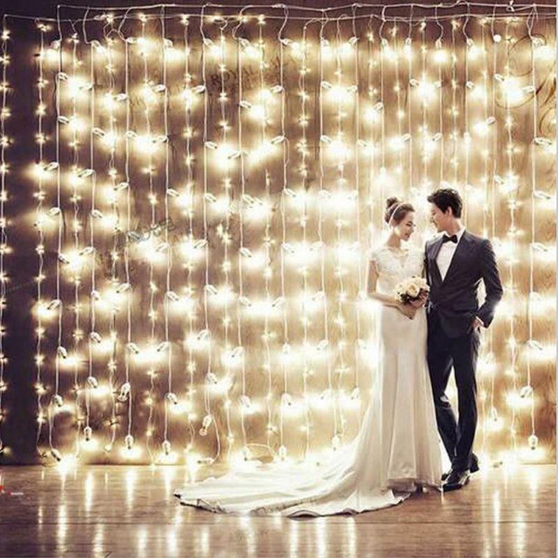 4.5 M x 3 M 300 LED maison en plein air vacances noël décoratif mariage chaîne de noël fée rideau guirlandes bande fête lumières