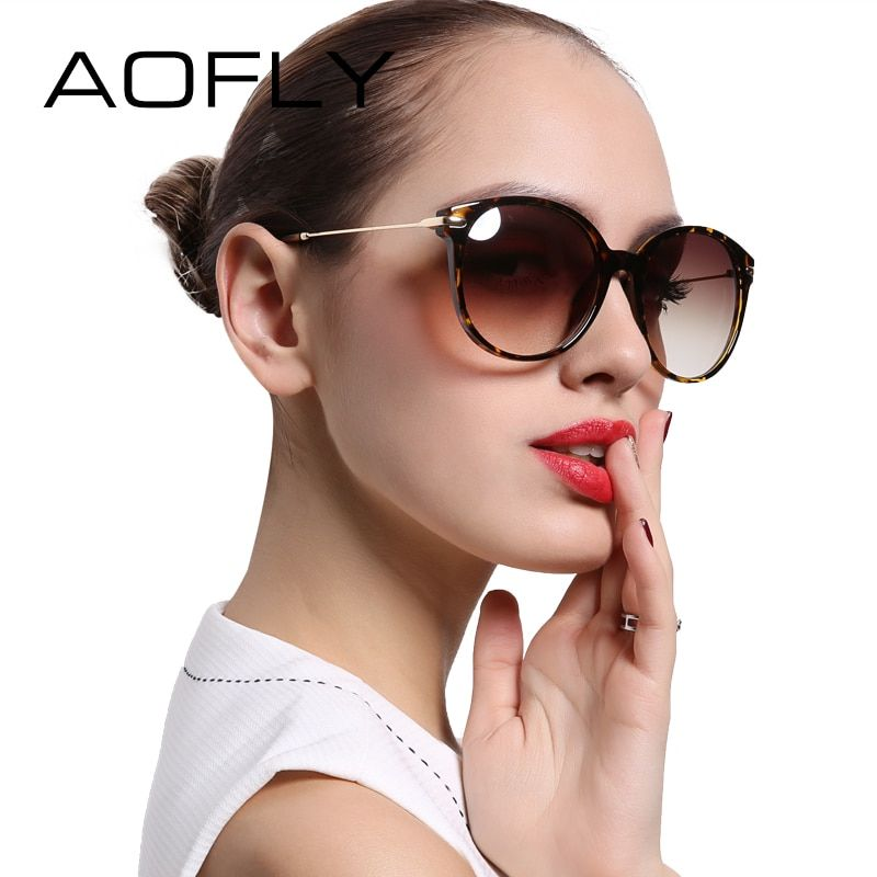 AOFLY Fashion Lady Sun glasses New Polarized Women Sunglasses Vintage <font><b>Alloy</b></font> Frame Classic Brand Designer Shades Oculos AF7913