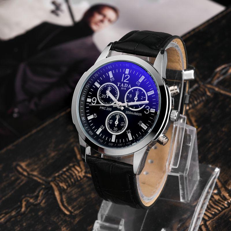 Top lujo marca tada t2106 cristal azul Cara hombres reloj vida wateproof relojes hombres moda Militar relojes hombres frescos reloj