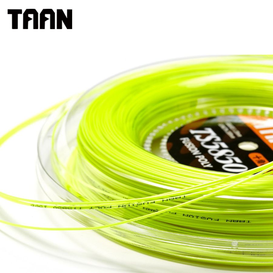 TAAN 1.20mm Ten Fusion Poly Cyclo Decagonal Tennis String Polyester 200m Reel Gym Training String Tennis Racket String TT5850