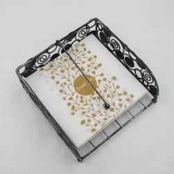 Nouveau 20 pcs/lot Arabe De Luxe Feuilles D'or Serviette En Papier Vin Verre serviette table dîner Mouchoirs en papier de noce fournitures