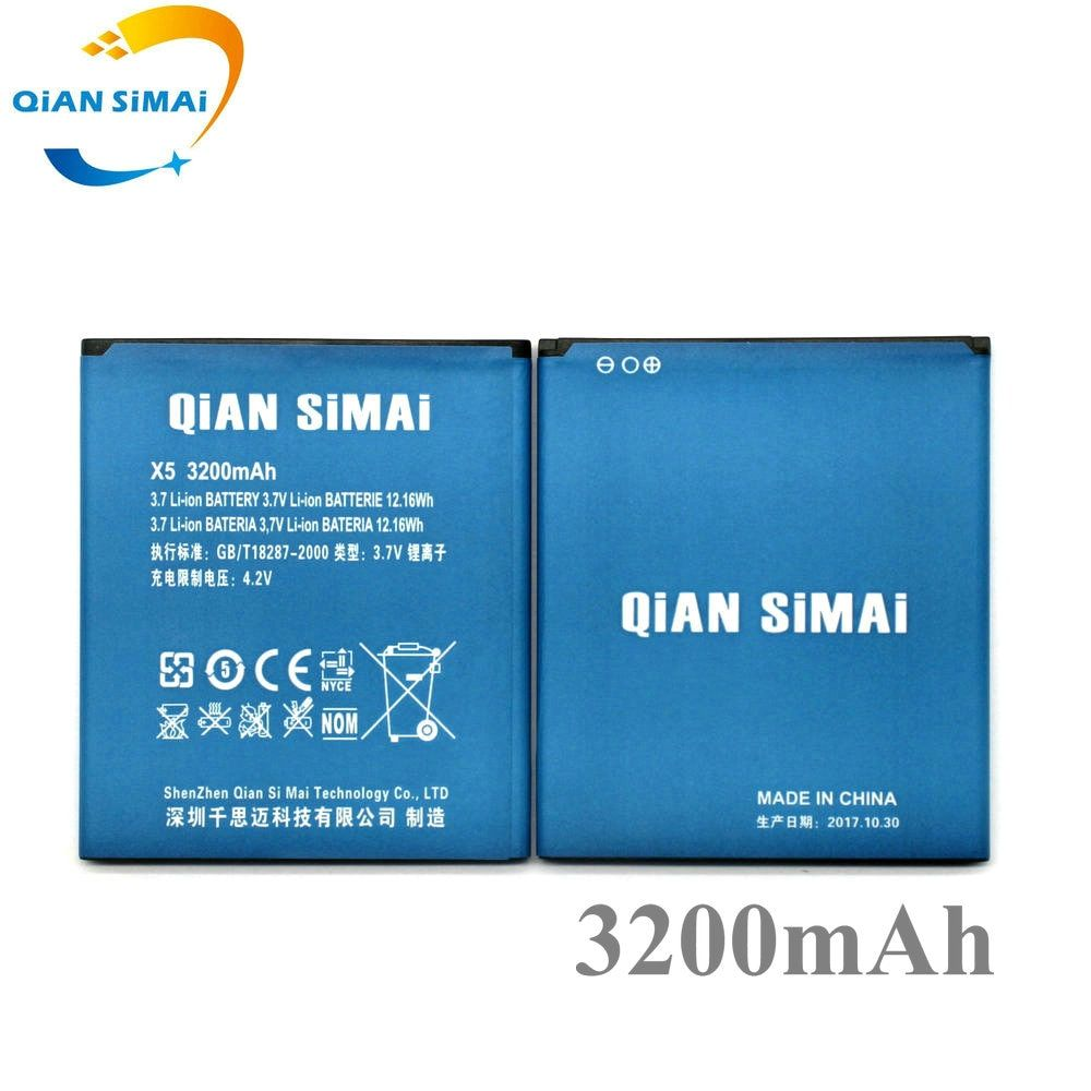 QiAN SiMAi New DOOGEE X5 Battery 3200mAh Replacement accumulators For DOOGEE X5 Pro / X5 X5S smart Phone+ in stock
