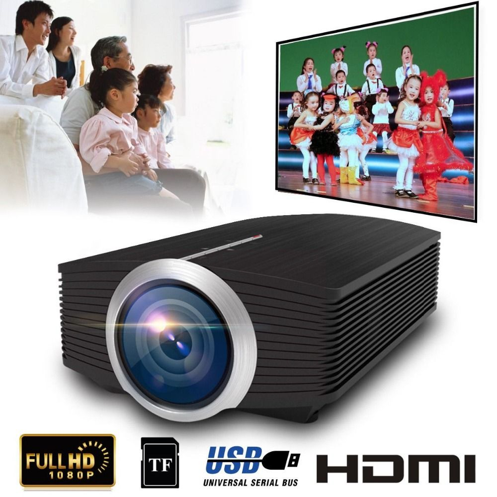 YG500 Mini Projector 1080P home theater 5.1 Portable 1800Lumen LED Projector Home Cinema USB HDMI 3D Beamer Bass Speaker Project