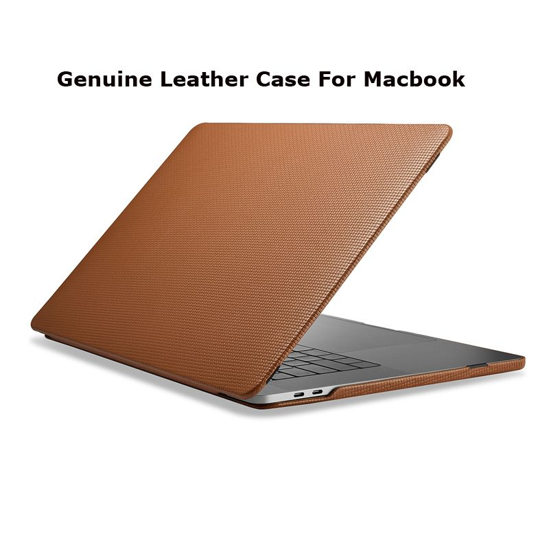 Woven Pattern Genuine Leather Cover for Macbook Pro 13 A1706 A1708 New 2017 Luxury Laptop Sleeve Case For Macbook Pro 15 A1707