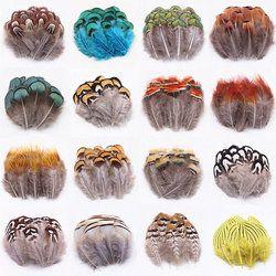 15 pcs/lot Naturel Faisan Plumes Turquie Plume Diy Vêtements chapeau bijoux Campanule Décoratifs plumes 22 sortes de trois option