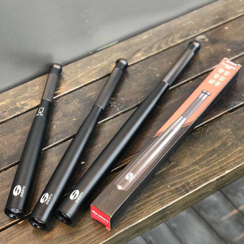 SHENYU batte de Baseball lampe de poche LED 350 Lumens Super lumineux Baton torche pour l'urgence et l'autodéfense