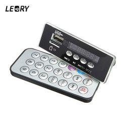 LEORY 5V/12V MP3 Audio Decoder Board Digital LED Display With Remote Controller Amplifier Audio Decoding Module USB TF FM Radio