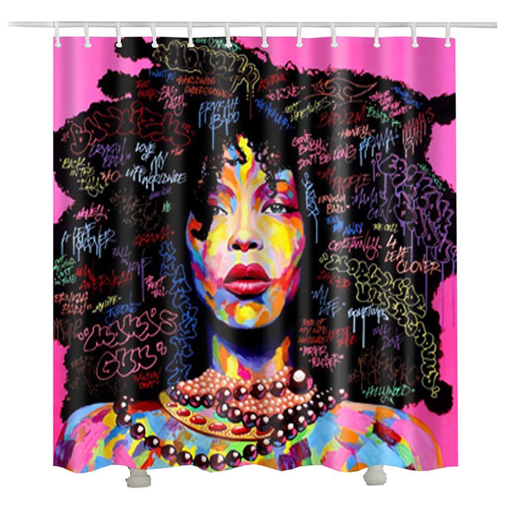 women african shower curtain cheap cortinas bano navidad cortina de ducha waterproof fabric shower curtain