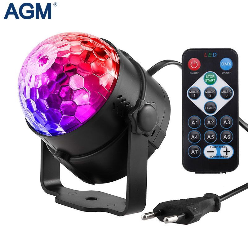 Lampe LED Disco scène lumières DJ Disco Ball Lumiere son activé Laser projecteur effet lampe lumière musique noël fête #30
