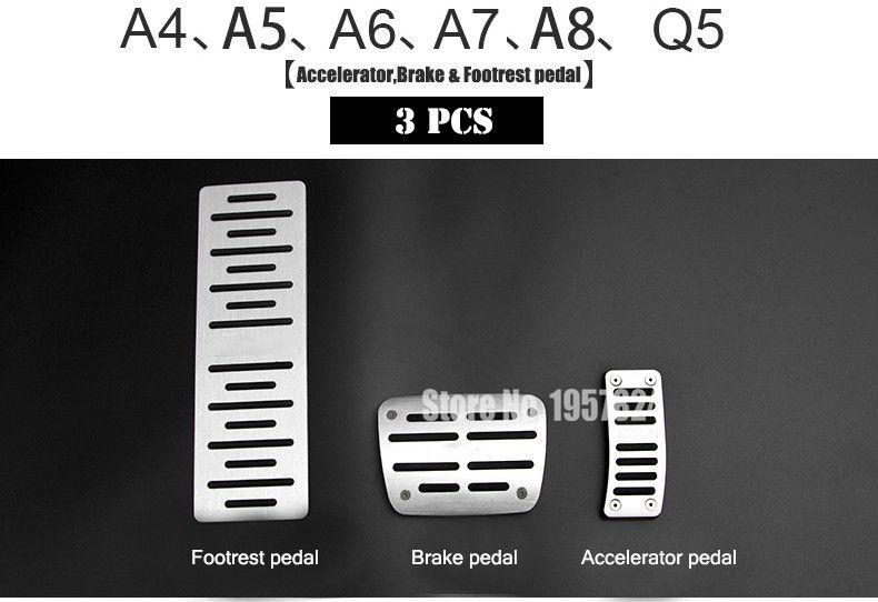 DEE Original design Aerospace Aluminum alloy Car brake accelerator pedal for AUDI A4 A5 A7 A8 Q5 Q3 Q7 A3 A6 TT Pedals pad Cover