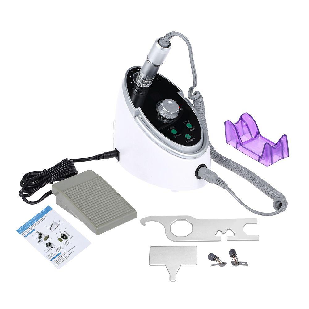 Anself LED Display Electric Nail Drill Machine Set Nail Drill Pen Polishing Sanding Bands Nail Glazing Machine Manicure Tools