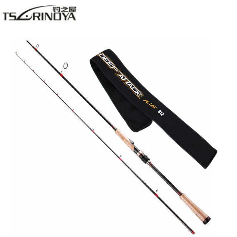 TSURINOYA Fishing Spinning Rod 2.47m 2 Section Carbon Spinning Fishing Rod FUJI Accessories Fishing Pole Carp Fishing Tackle