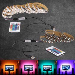 1 m 2 m 3 m 4 m 5 m DC 5 V RVB Flexible USB led lumière de bande 5050 SMD piqûre IP20 Ruban Adhésif bande TV Fond éclairage
