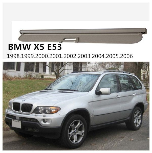 For BMW X5 E53 1998 1999 2000 2001 2002 2003 2004 2005 2006 Rear Trunk Security Shield Cargo Cover High Qualit Auto Accessories