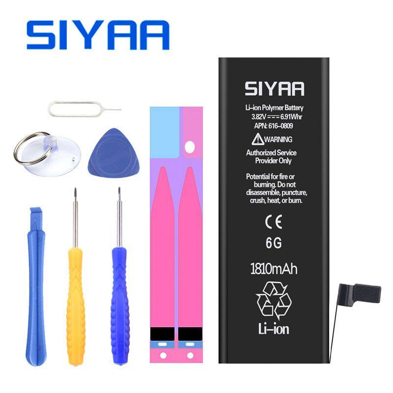 D'origine SIYAA Pour iPhone 6 Batterie 1810 mah iPhone6 Remplacement Batteria Haute Capacité Outils Gratuits Détail Paquet Cadeaux Gratuits