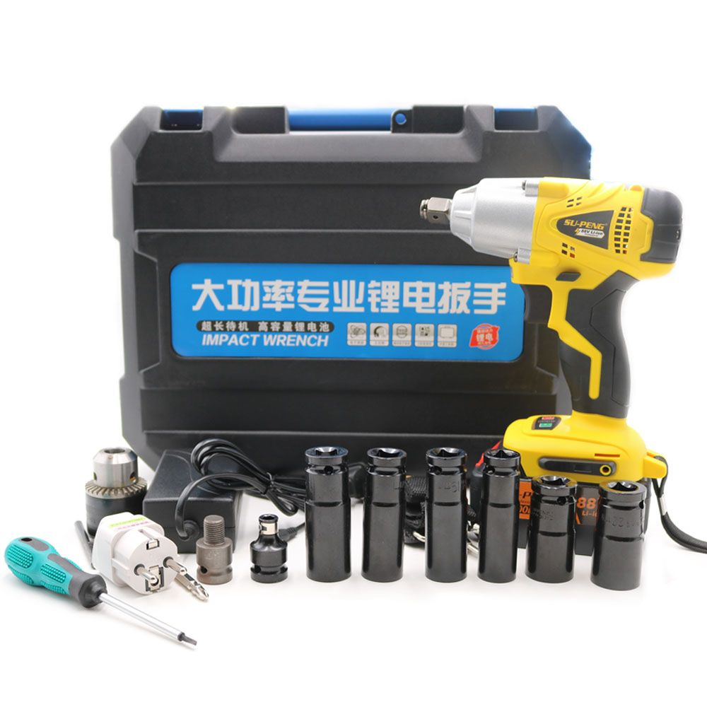 1/2' Li-ion 88V 8000mA 2 batteries Electric Impact Wrench powerful wrench scaffolding lithium electric pneumatic drill tool