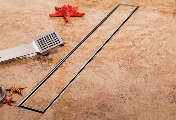 304 stainless steel 60cm linear anti-odor long floor drain bathroom invisible shower 600mm floor drain DR099