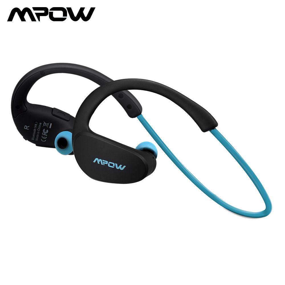 Mpow MBH6 Cheetah 4.1 Bluetooth <font><b>Headset</b></font> Headphones Wireless Headphone Microphone AptX Sport Earphone for iPhone Android Phone