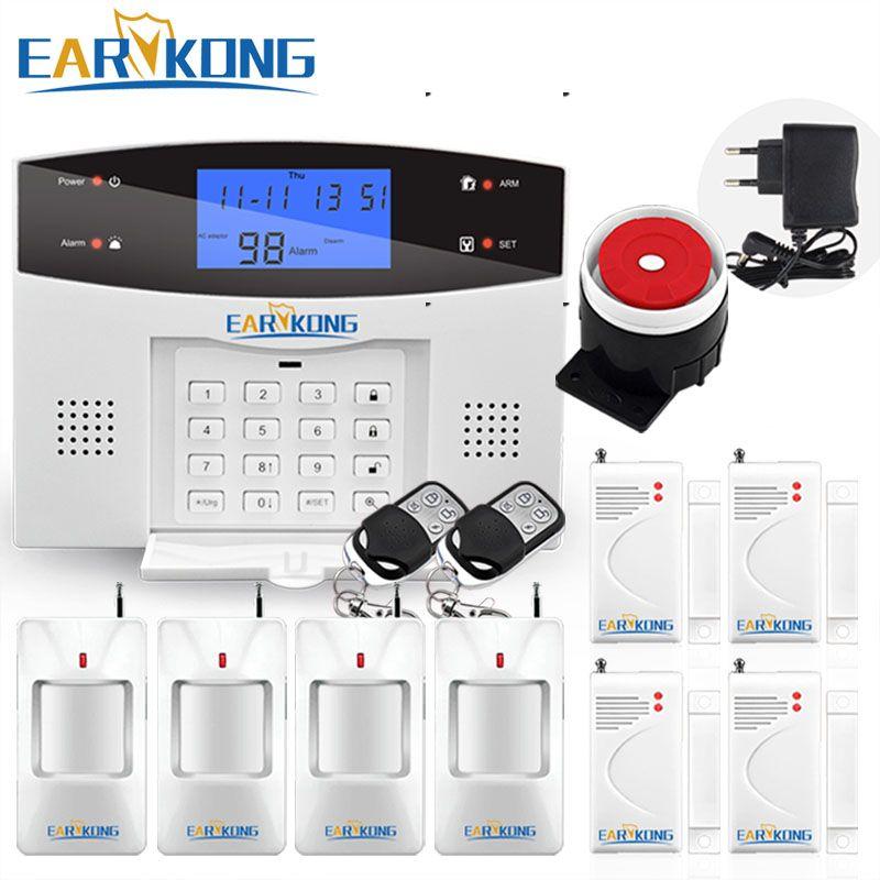 Earykong Home Burglar Security GSM Alarm System, NEW 850/900/1800/1900 Wireless Signaling, Motion Sensor, Smart Home Alarm