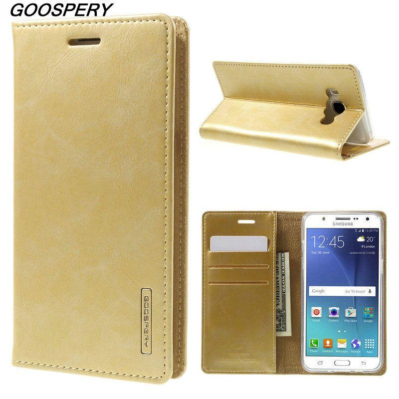 For Samsung J5 2016 Case Original MERCURY GOOSPERY Blue Moon Leather Wallet Phone Cover Case for Samsung Grand J5 2016 J510