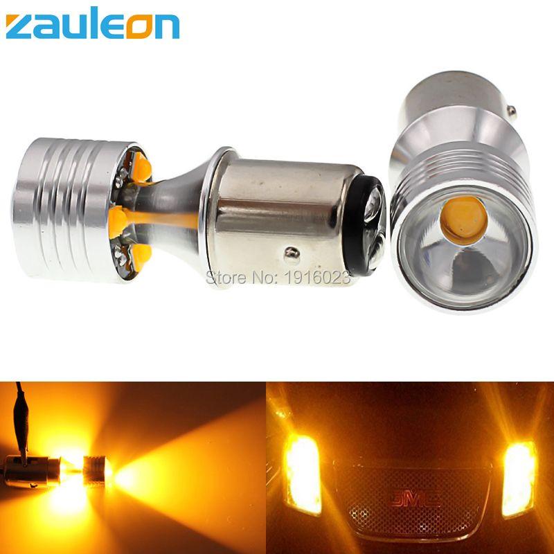 Zauleon 2 шт. 1157 BAY15D P21/5 Вт Желтый янтарь 20 Вт светодиод высокой Мощность автомобиля указатель поворота Amber парковка свет автомобиль-Стайлинг