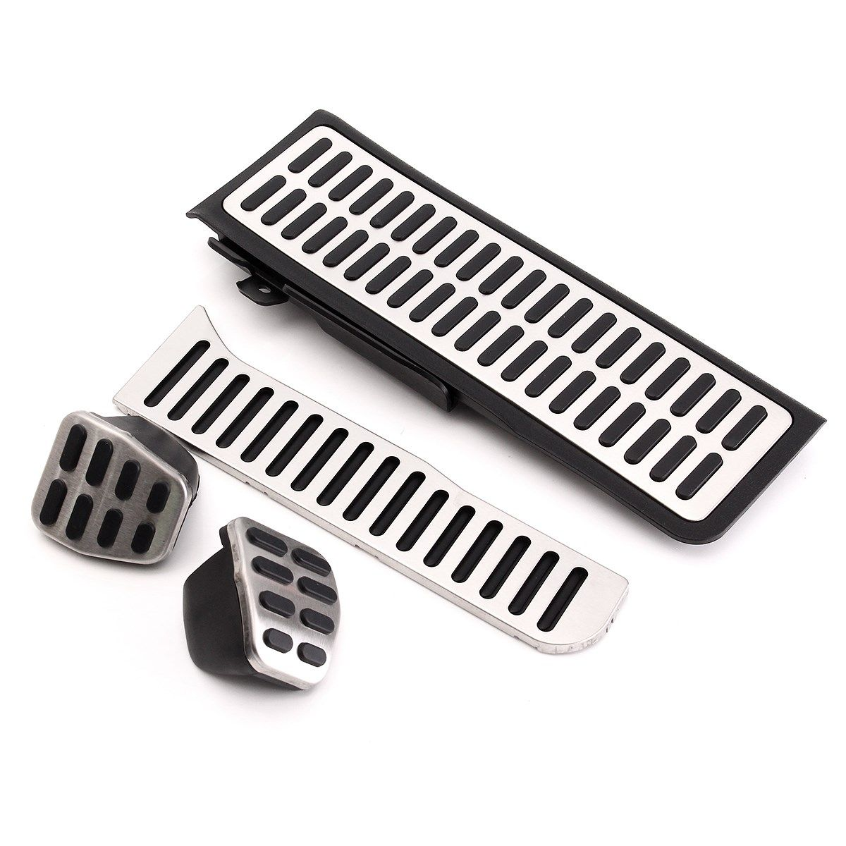 4pcs LHD Clutch Fuel Brake Foot Rest MT Pedals Pads Set For VW Jetta MK5 Golf MK6 Vento Sagitar 2008-2013 2005-2010