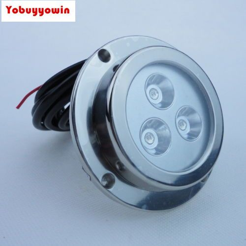 Top Quality!!! 2PC 9W WHITE UNDERWATER BOAT LED LIGHT MARINE FISHING First-class stainless steel (316) Squid Light SS