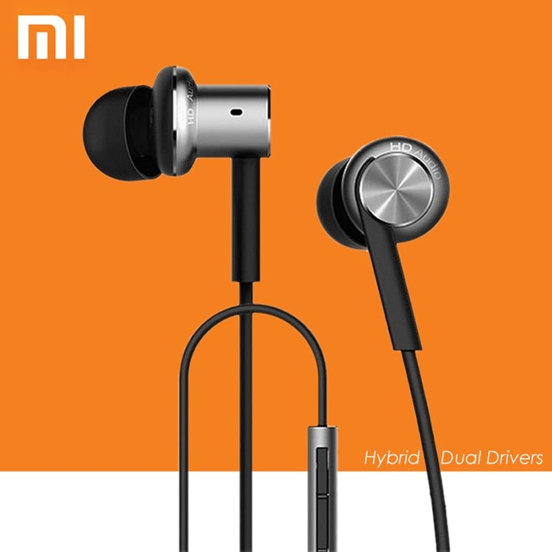 Original XiaoMi Mi IV In-Ear Wired Hybrid Earphones Control with Mic for Android iOS for Mobile phone MI3 MI4 MI5 Redmi