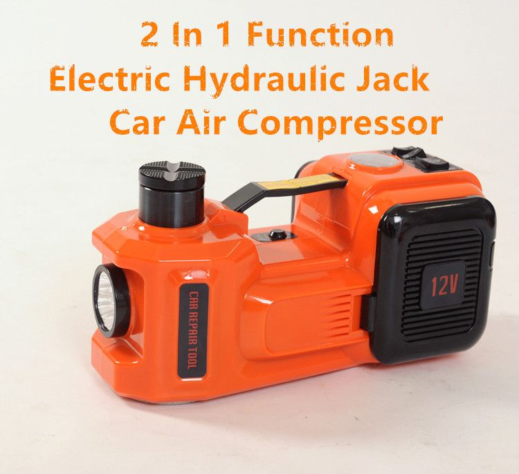 5ton 2 In 1 Function auto electric hydraulic Jack lifting two functions jack for SUV lift with car air compressor inflator