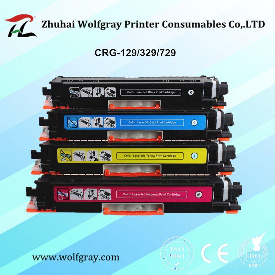 YI, LE CAI compatible CRG 129 329 729 CRG-129 CRG-329 CRG-729 cartouche de toner pour Canon Lasershot LBP7010C/LBP7018C CRG129 CRG329