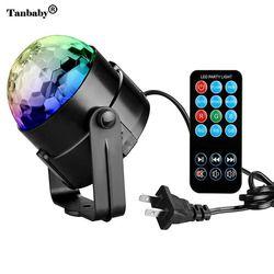 RGB مصابيح حفلات ديسكو الكرة 3 واط Led ستروب ضوء المرحلة مع البعيد تحكم ل DJ بار كاريوكي الاطفال عطلة جهاز عرض الكريسماس