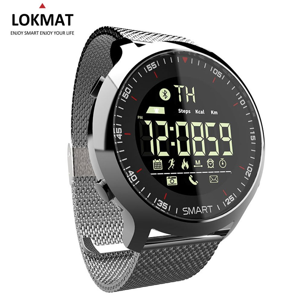 LOKMAT Smart Watch Men Sport Watch Bluetooth Waterproof bracelet <font><b>band</b></font> Support Call And SMS reminder SmartWatch Wearable Devices