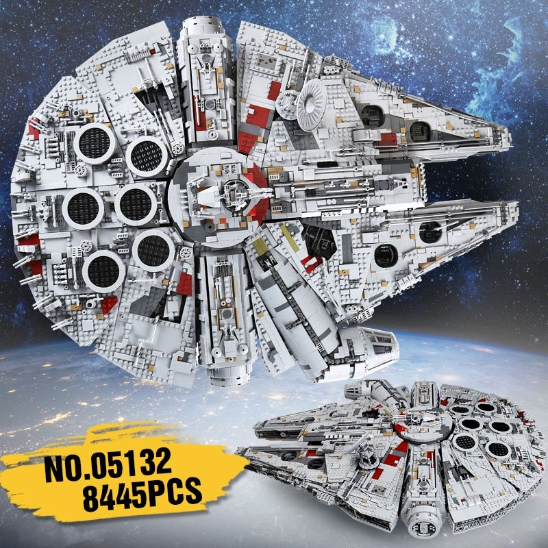 lepin 05132 set star destroyer millennium falcon compatible with LegoINGlys 75192 bricks kit building blocks birthday gifts