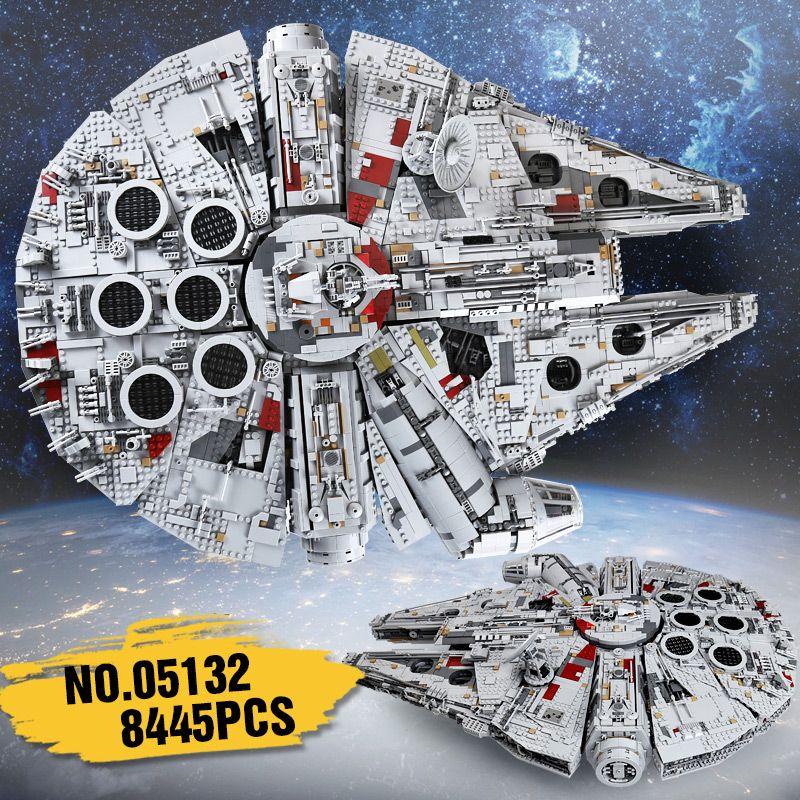 lepin 05132 set star destroyer millennium falcon compatible with LegoINGlys 75192 bricks kit building blocks birthday gifts