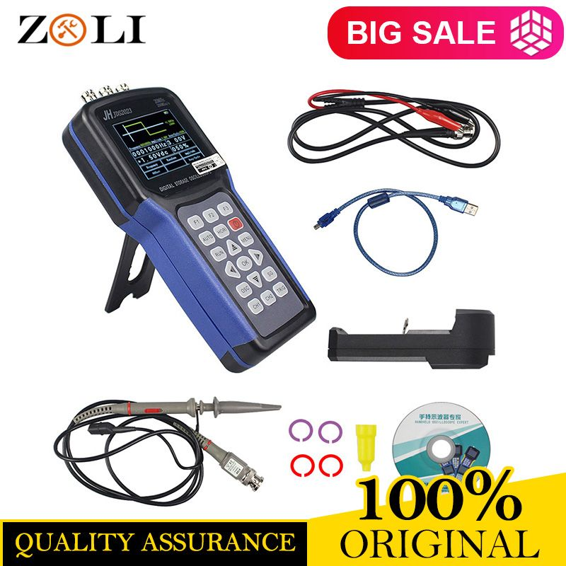 Jinhan JDS2023 Handheld Oscilloscope 1 Channels 20MHz oscilloscope JDS2023 200MSa/s 16 bit true color IN STOCK NOW