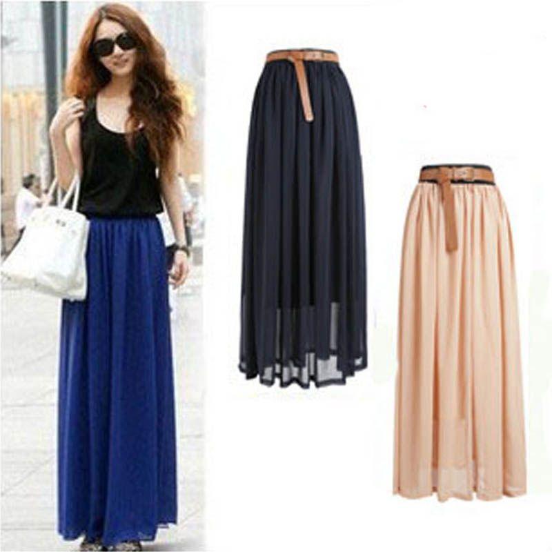 Nouvelle marque de mode Designer Sexy Style jupe femmes Sexy en mousseline de soie couleur bonbon longue jupe de haute qualité belles conceptions vente chaude