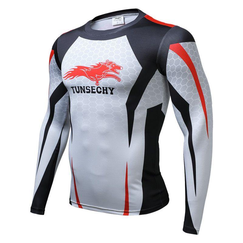 2017 футболки рубашка сжатия Crossfit футболка Для мужчин Капитан Америка с длинным рукавом 3D футболка Фитнес Camiseta Костюмы MMA