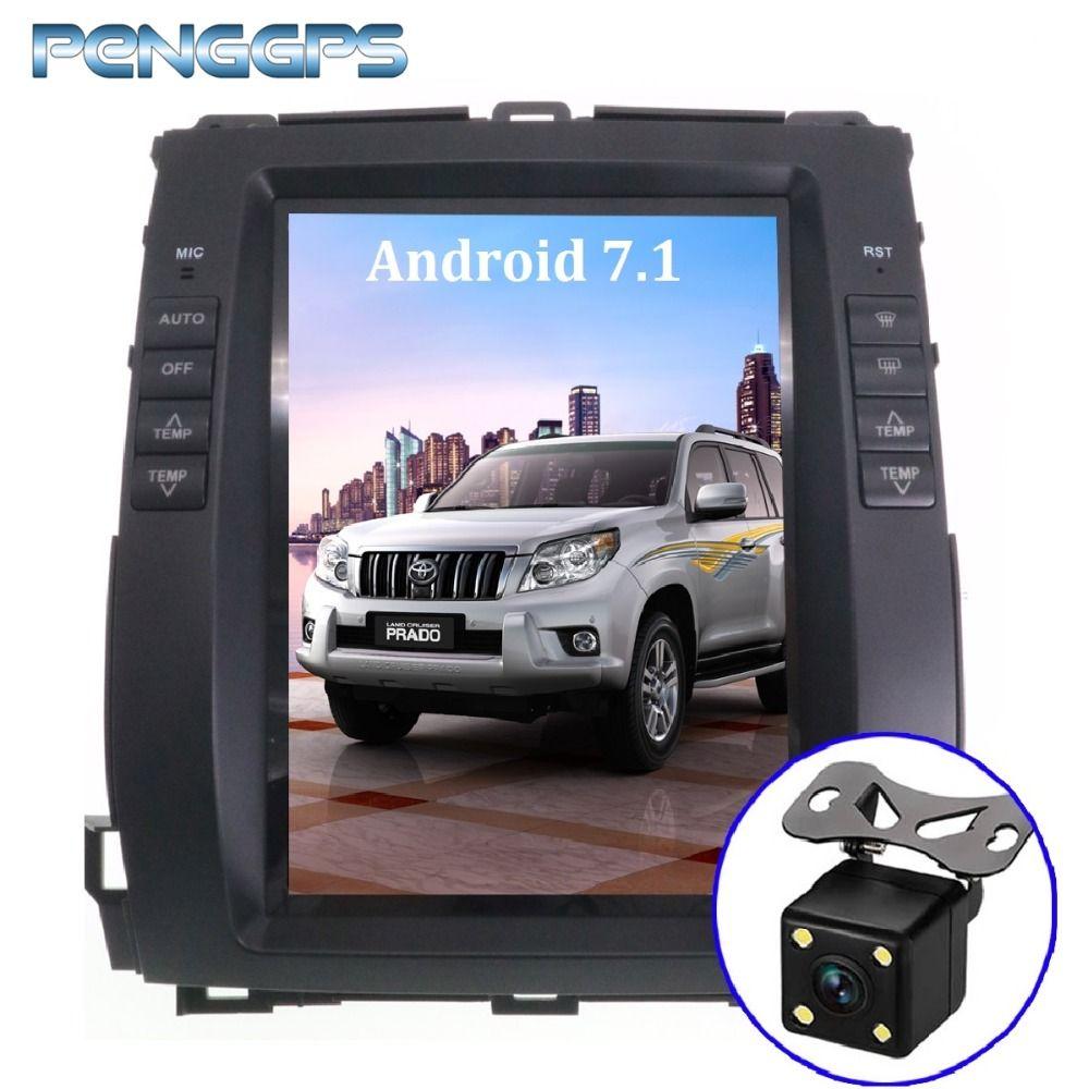 Android 7.1 Auto GPS Navigation DVD Player für Toyota Land Cruiser Prado 120 2002-2009/Lexus GX470 Tesla Stil 10,4