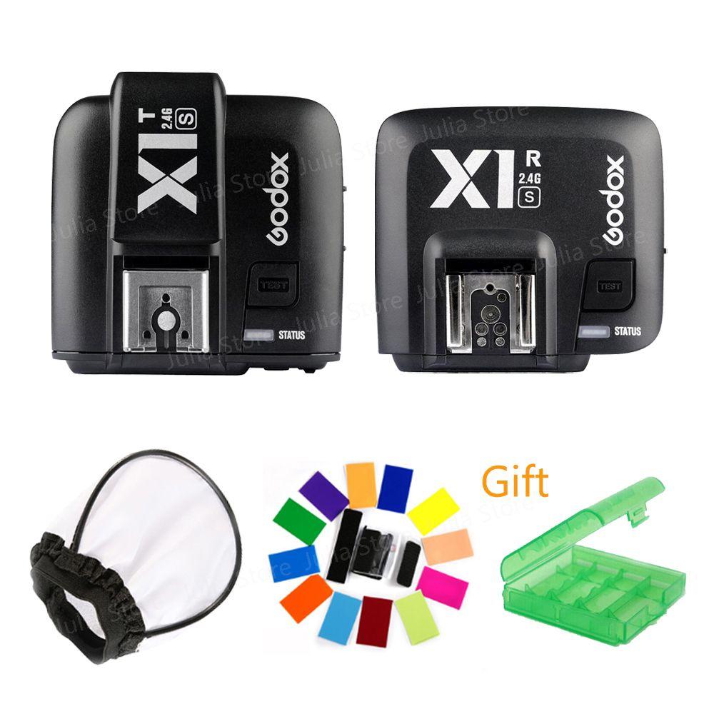 Godox X1S 2.4GHz i-TTL Flash Wireless Transmitter W/Receiver Trigger For Sony a77II a7R a7SII A6500 A6300 V860II-S TT685S X1T-S