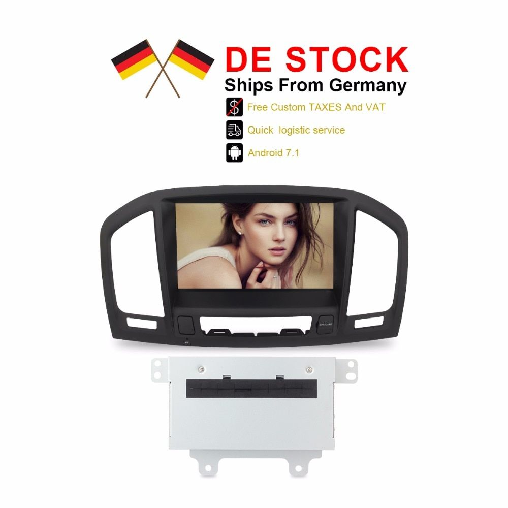 Duty Freies DE Lager Android 7.1 Auto Stereo Auto Radio Für Insignia 2009 2010 2011 2012 CD300 CD400 8 Core 2 gb RAM DVD GPS NAVI