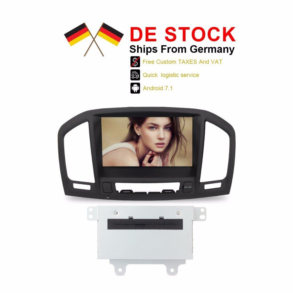 Duty Free DE Stock Android 7.1 Car Stereo Auto Radio For Insignia 2009 2010 2011 2012 CD300 CD400 8 Core 2GB RAM DVD GPS NAVI