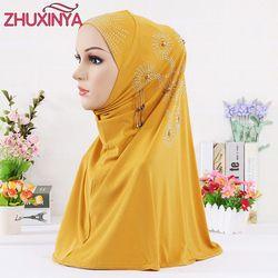 9 Couleur Femmes Polyester Musulman Tête Revêtements Hijab/Écharpe/Cap/Chapeau Foulard Islamique Turc intérieure Cap IslamTurban Ramadan