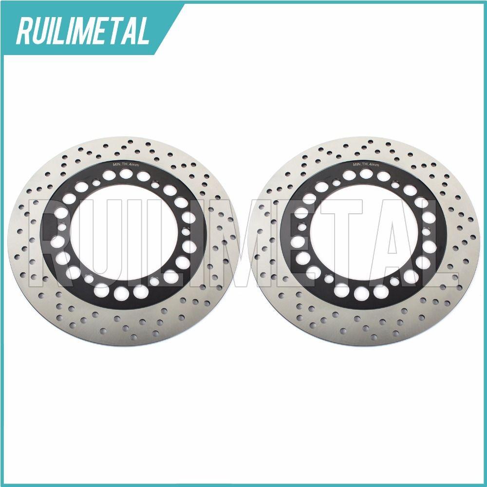 Full Set  Front Brake Discs Rotors for ZL 1000 Eliminator ZL 750  ZL 900 ZX 750 Turbo ZX 900 Ninja R 83-86